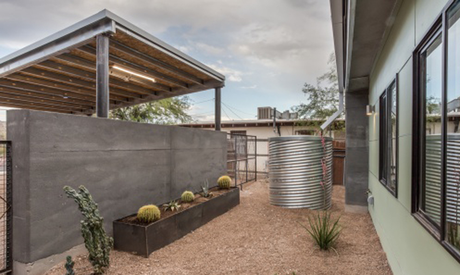 3 Entry Courtyard with Rainwater Cistern
