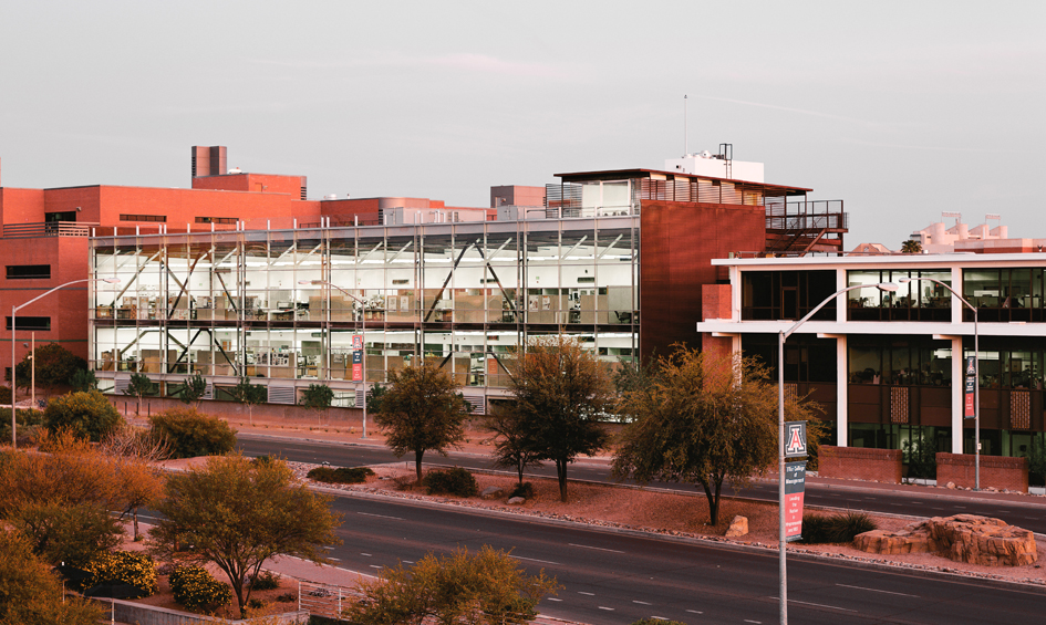 A photo of the College of Architecture, Planning & Landscape Architecture Building At The University Of Arizona