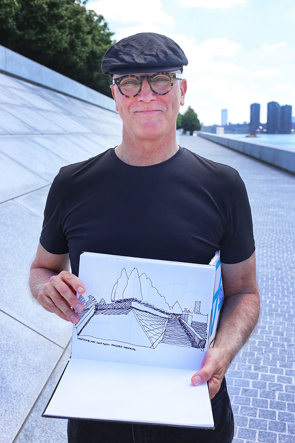 Robert Miller with drawing