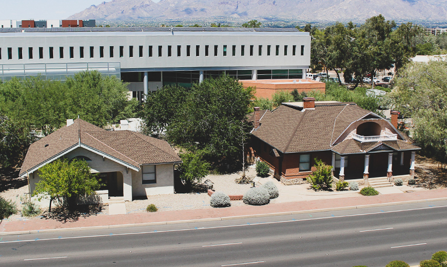 A photo of the College of Architecture, Planning & Landscape Architecture's Smith House At The University Of Arizona