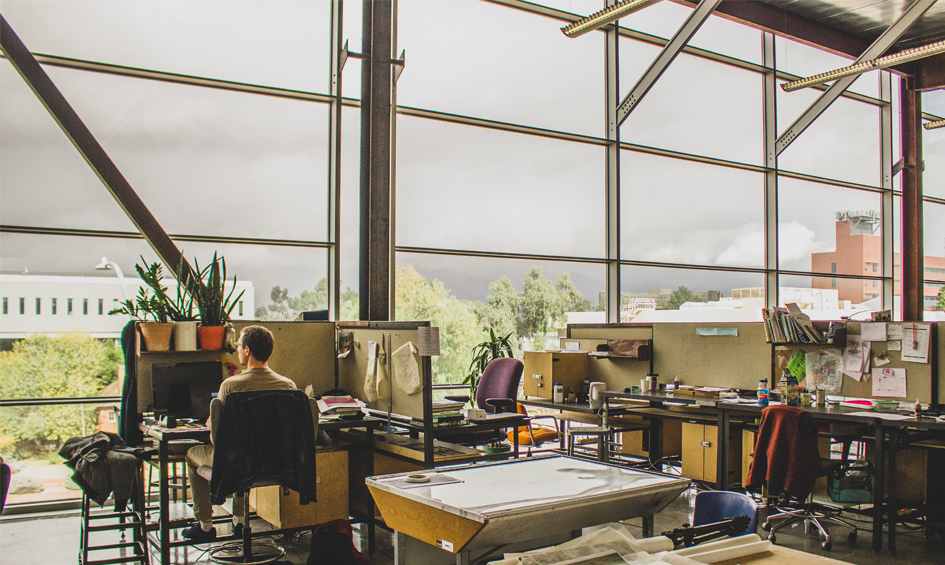 Studio space at the College of Architecture, Planning & Landscape Architecture at the University of Arizona