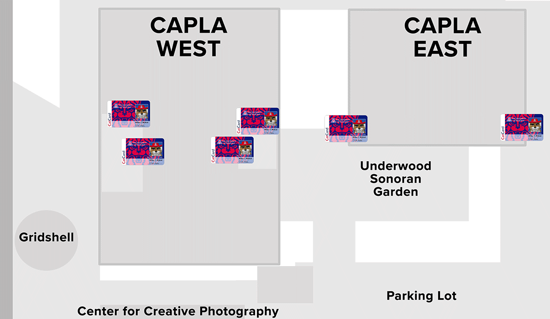 Map of CAPLA CatCard building access