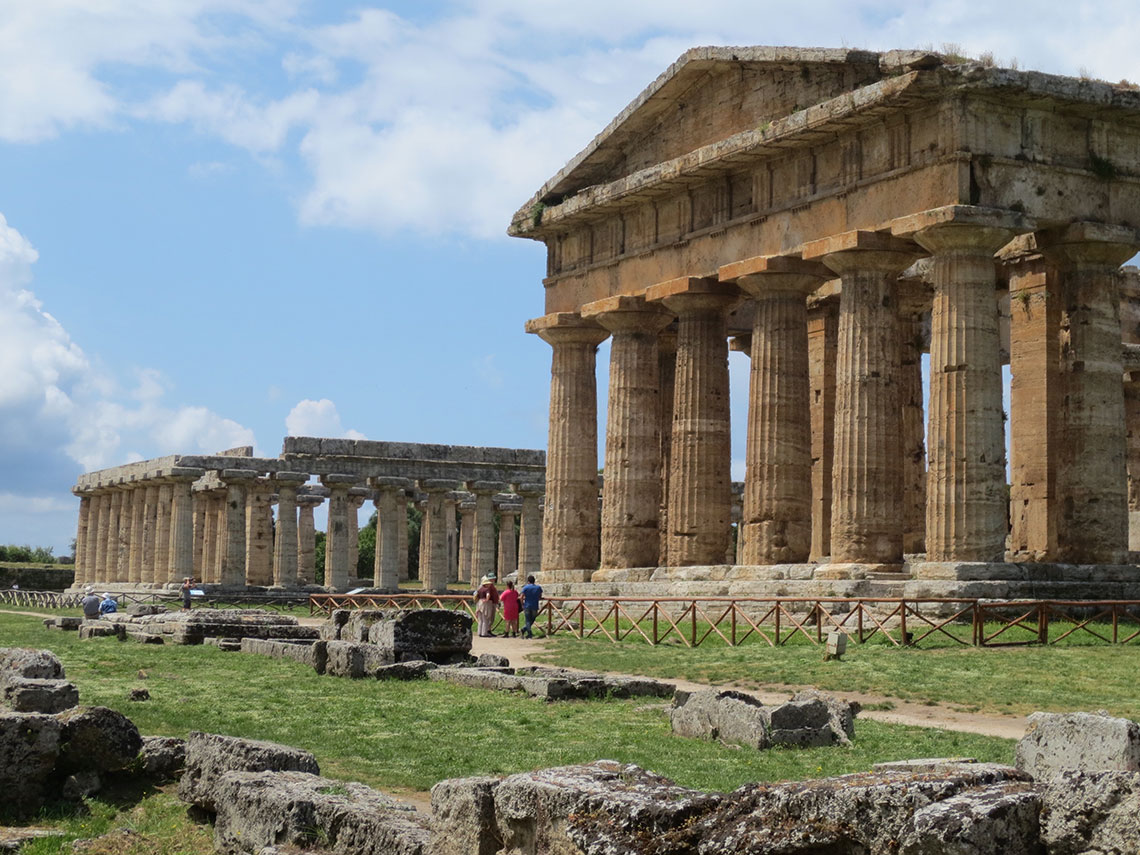 Temple of Hera and Temple of Apollo (?), Paestum, Italy. Photo by Laura Hollengreen.