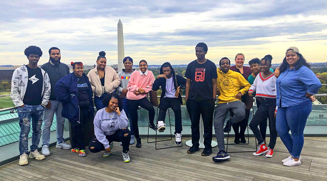 Washington, D.C. high school students in the inaugural stormwater solutions project by the The Urban Studio