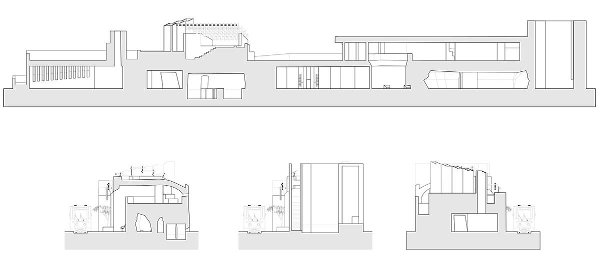Section drawings by Rafael Taiar