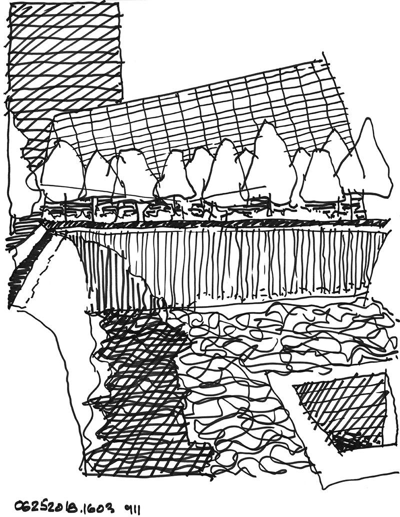 Drawing of 9-11 Memorial by Robert Miller
