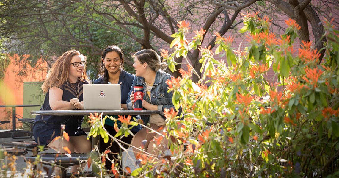 CAPLA students in the Underwood Sonoran Garden