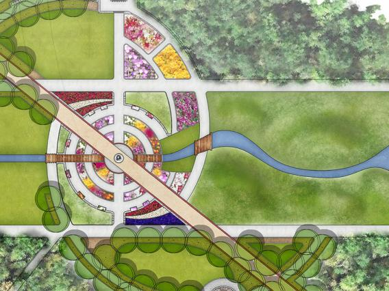 Landscape architecture site plan