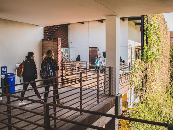 Students at CAPLA building