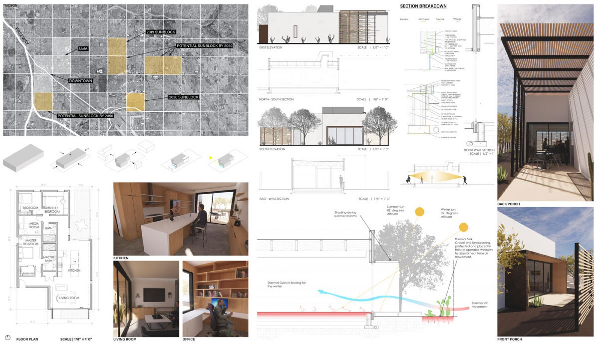Course: Solar Decathlon Design Challenge | Instructor: Jonathan Bean | Students: Josh Muckenthaler, Sierra Yang, Nik Altamura and Chumei Ru
