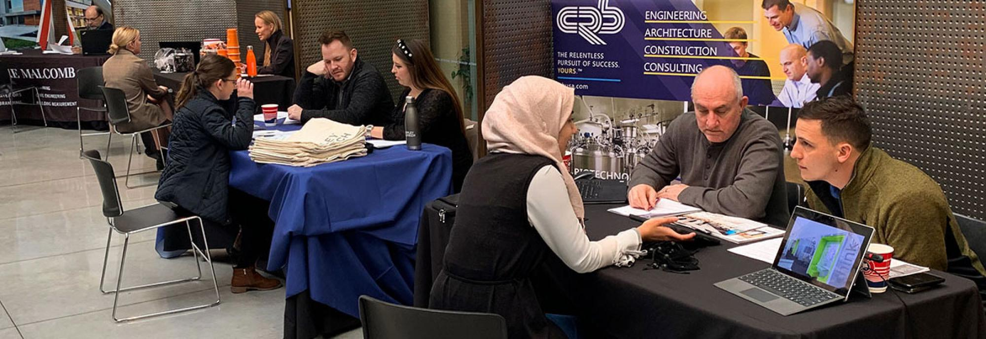Students and firms at CAPLA Job Interview Fair