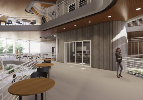 Center for Innovation and Collaboration, by Logan Matos