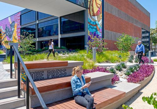 AMP&RSAND Modern Workspace Campus, by Lynn Capouya, Inc. Landscape Architects