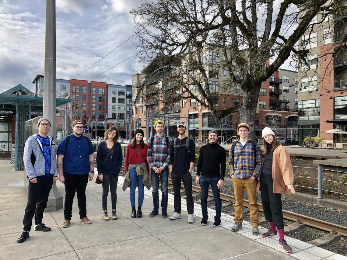 MS Urban Planning students visiting Portland