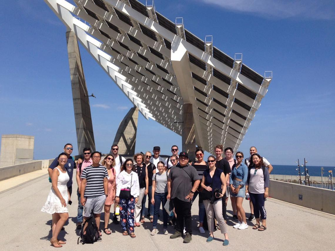 CAPLA students and faculty in Barcelona for study abroad