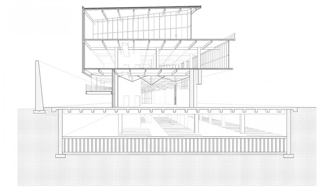 Architectural drawing by Liz Madsen