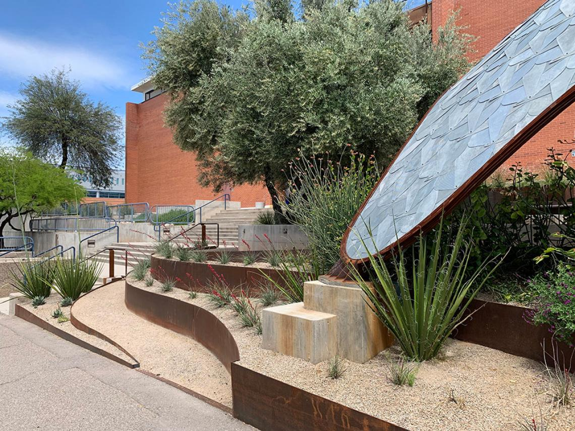Landscaping and gridshell
