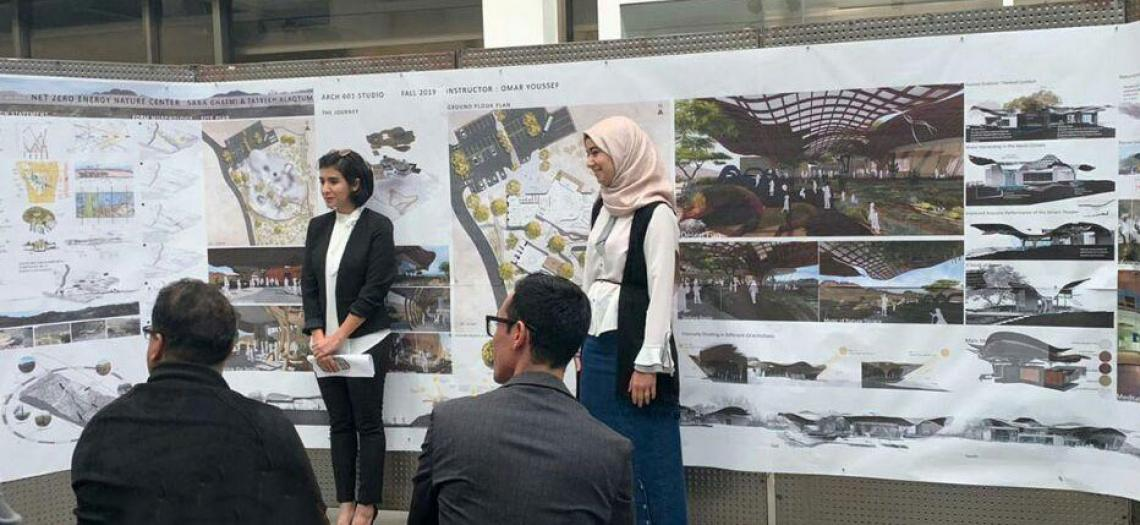 Master of Science in Architecture students presenting