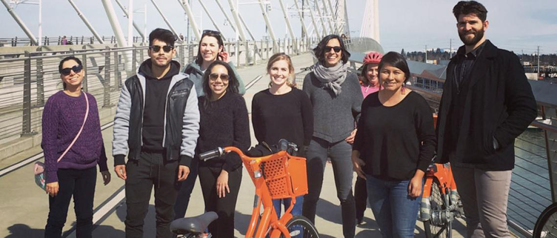 MS Urban Planning students on field trip to Portland