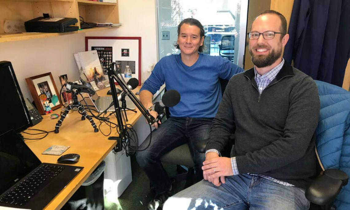 Ladd Keith and Doug Parsons talk during America Adapts Podcast