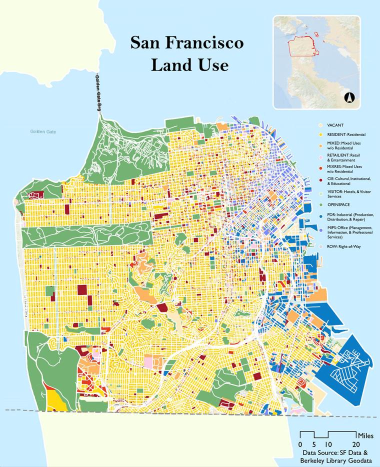 San Francisco Land Use Map, by Isabelle Loh