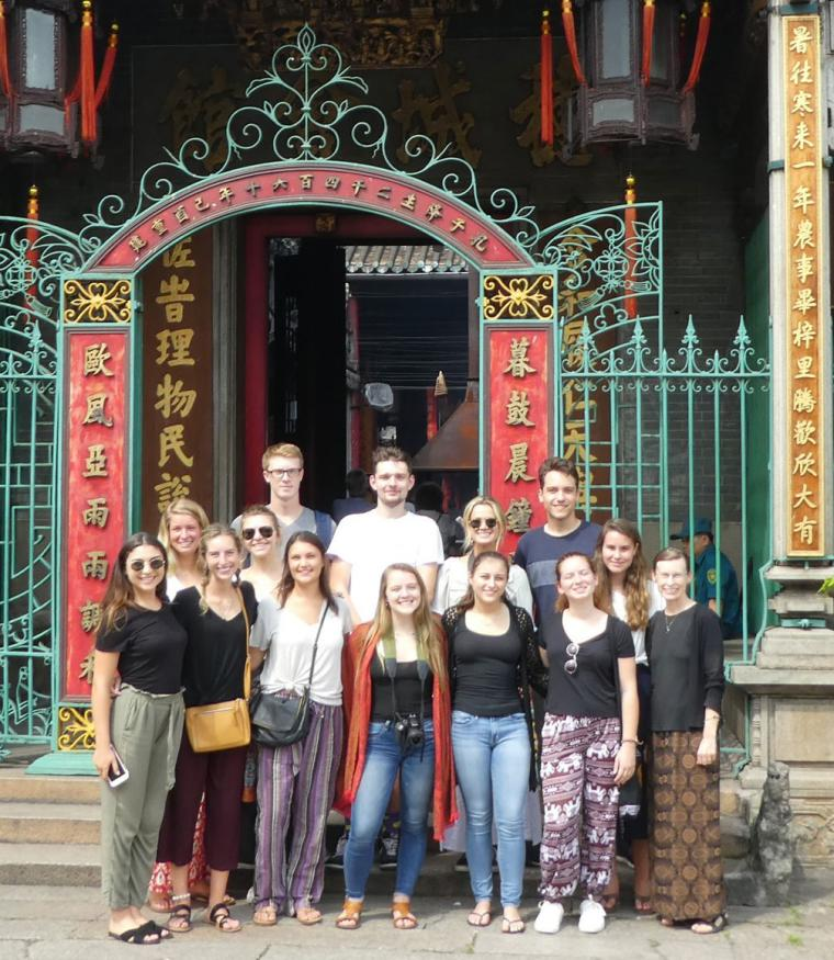 LIsa Schrenk with students on international trip