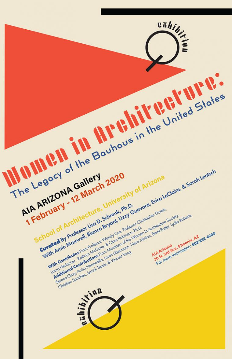 Poster: Women in Architecture: The Legacy of the Bauhaus in the United States
