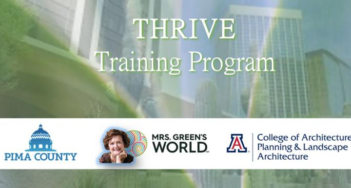 THRIVE Training Program screen