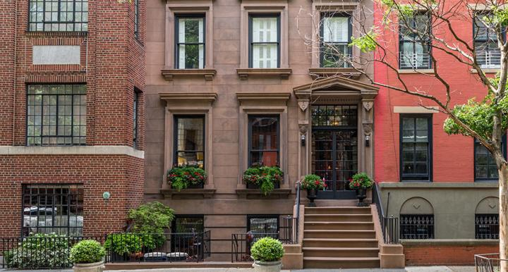 Middle housing: rowhouses in Brooklyn, New York.