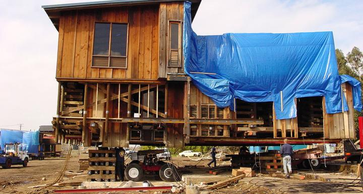 Sam Maloof residence and workshop being moved