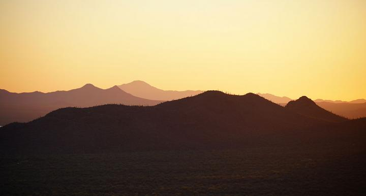 Tucson Mountains at sunset